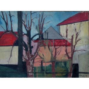 """Hayder Fryderyk """"Czerwone dachy"""""""