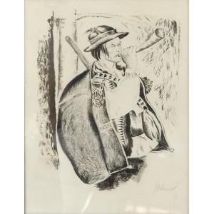 """Sichulski Kazimierz (1879-1942)  """"Hucuł grający na rogu"""""""