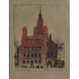 """Jabłczyński Feliks (1865-1928) """"Ratusz w Poznaniu"""""""