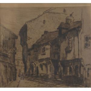 """Rubczak Jan (1884-1942)  """"Ulica w Douai"""""""