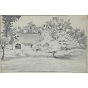 """Czajkowski Stanisław (1878-1954)  """"Pejzaż"""""""