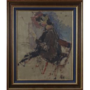 """Schreter (Szreter) Zygmunt (1886-1977)   """"Portret kobiety"""""""