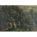 """Kaniewski Jerzy Edmund (1909-1982) """" W ogrodzie"""""""