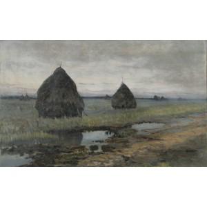 """Wąsowicz Rafał (1867-1944) """"Stogi siana"""""""