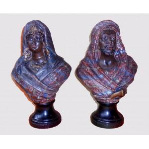 Terakota, Popiersia kobiety i mężczyzny w strojach orientalnych