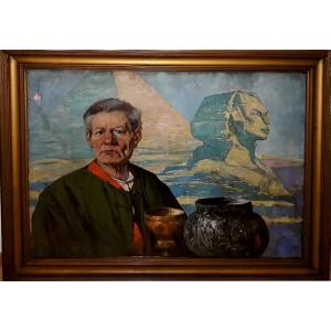 "Ludwik Stasiak ""Autoportret ze Sfinksem"""