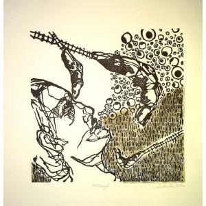 Eleonora Wasielewska  Bez tytułu Litografia, 25x25 cm