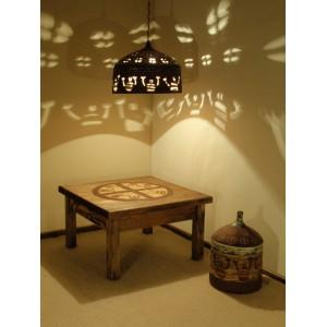 """Zestaw  - stolik, lampa, naczynie """"Neolityczni marynarze tańczą dla słońca"""" 1150 EUR"""
