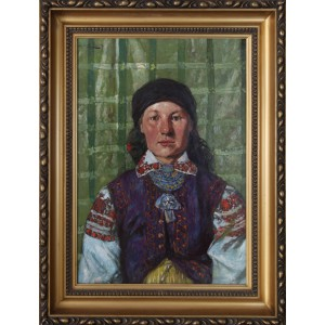 """Stasiak Ludwik (1858-1924)   """"Portret dziewczyny"""""""